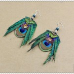 wholesale-retail-Free-shipping-native-peacock-feather-earrings-with-925-silver-ear-hook-fashion-jewelry-earrings