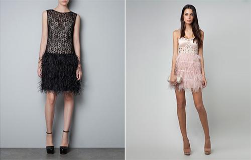 Платье с страусиными перьями купить